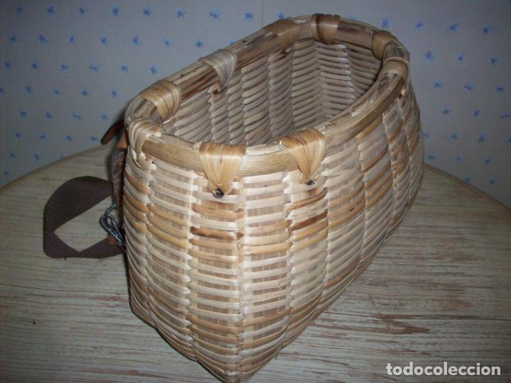 Antigüedades: PRECIOSA CESTA DE PESCADOR EN MIMBRE . - Foto 9 - 208877985