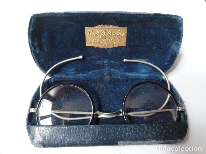 Antigüedades: GAFAS ANTIGUAS con estuche - L. Becker Optometrist, Broadway, New York City, USA - Foto 3 - 208987055