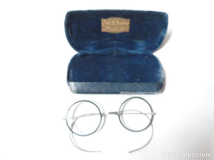 Antigüedades: GAFAS ANTIGUAS con estuche - L. Becker Optometrist, Broadway, New York City, USA - Foto 6 - 208987055