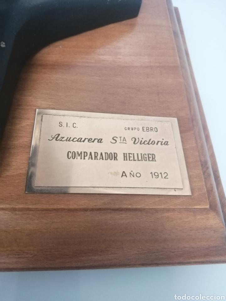 Antigüedades: COMPARADOR HELLIGER. 1912. AZUCARERA SANTA VICTORIA. VALLADOLID. 47X35X29 CM. VINTAGE INDUSTRIAL. - Foto 2 - 209000140