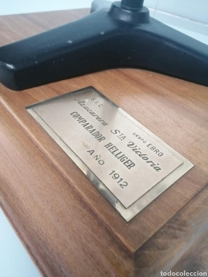 Antigüedades: COMPARADOR HELLIGER. 1912. AZUCARERA SANTA VICTORIA. VALLADOLID. 47X35X29 CM. VINTAGE INDUSTRIAL. - Foto 3 - 209000140