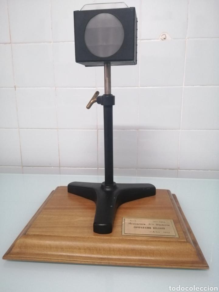 Antigüedades: COMPARADOR HELLIGER. 1912. AZUCARERA SANTA VICTORIA. VALLADOLID. 47X35X29 CM. VINTAGE INDUSTRIAL. - Foto 6 - 209000140