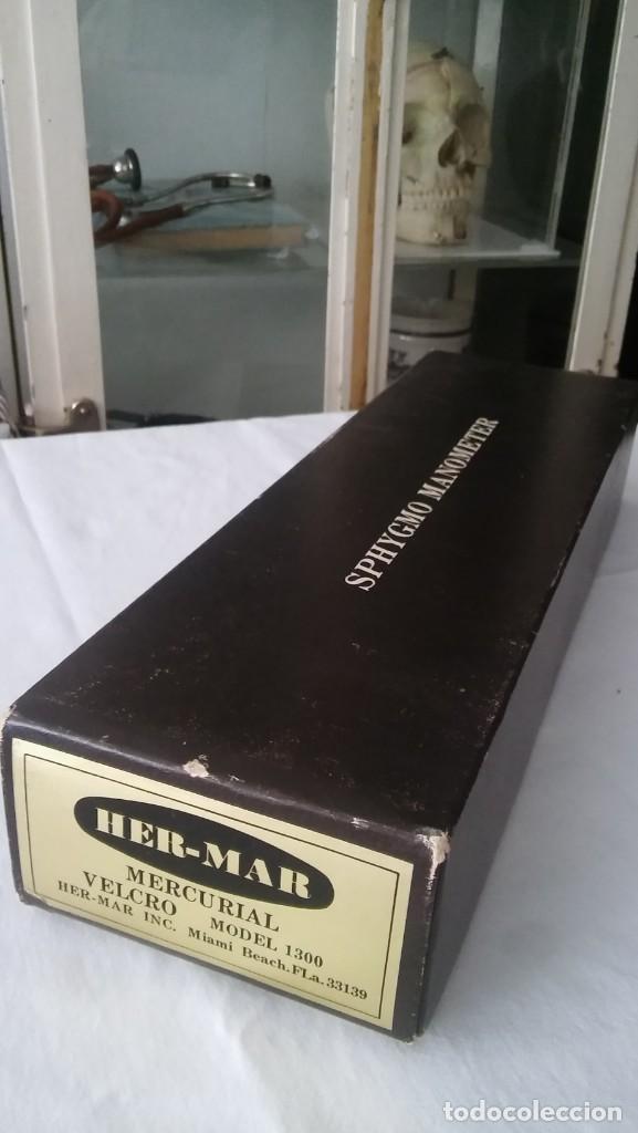 Antigüedades: TENSIOMETRO DE MERCURIO APARATO MEDICO PARA MEDIR TENSIÓN ARTERIAL, ANTIGUO VINTAGE MED. S XX - Foto 2 - 209019237
