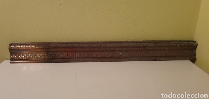 Antigüedades: PLACA EMBELLEDOR REALIZADA EN METAL O BRONCE - Foto 2 - 209157483