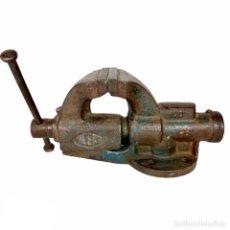 Antiguidades: ANTIGUO TORNILLO GATO PARA BANCO DE TRABAJO ACERO 100 AG. Lote 209190161