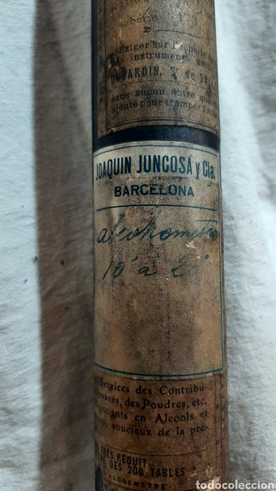 Antigüedades: MEDIDOR DE ALCHOL ALCHOLMETRO 1920 FRANCÉS CON ESTUCHE - Foto 2 - 209198865