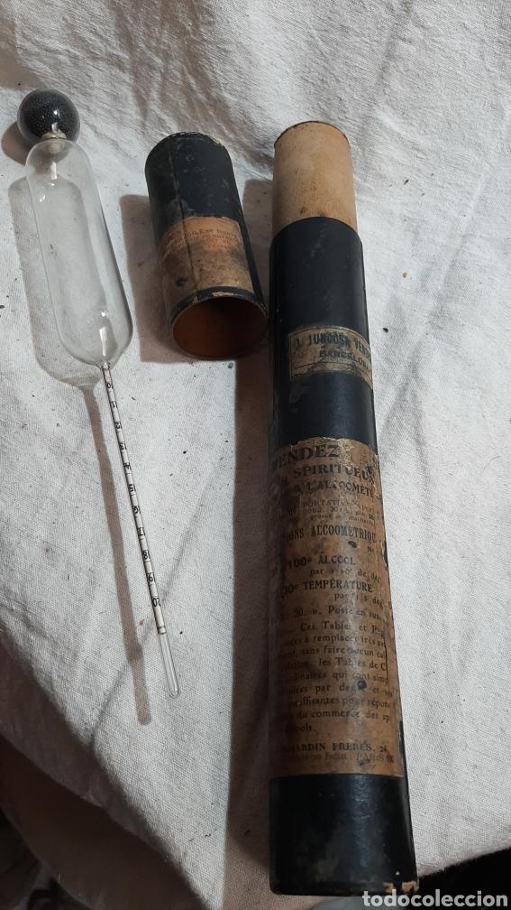 Antigüedades: MEDIDOR DE ALCHOL ALCHOLMETRO 1920 FRANCÉS CON ESTUCHE - Foto 3 - 209198865