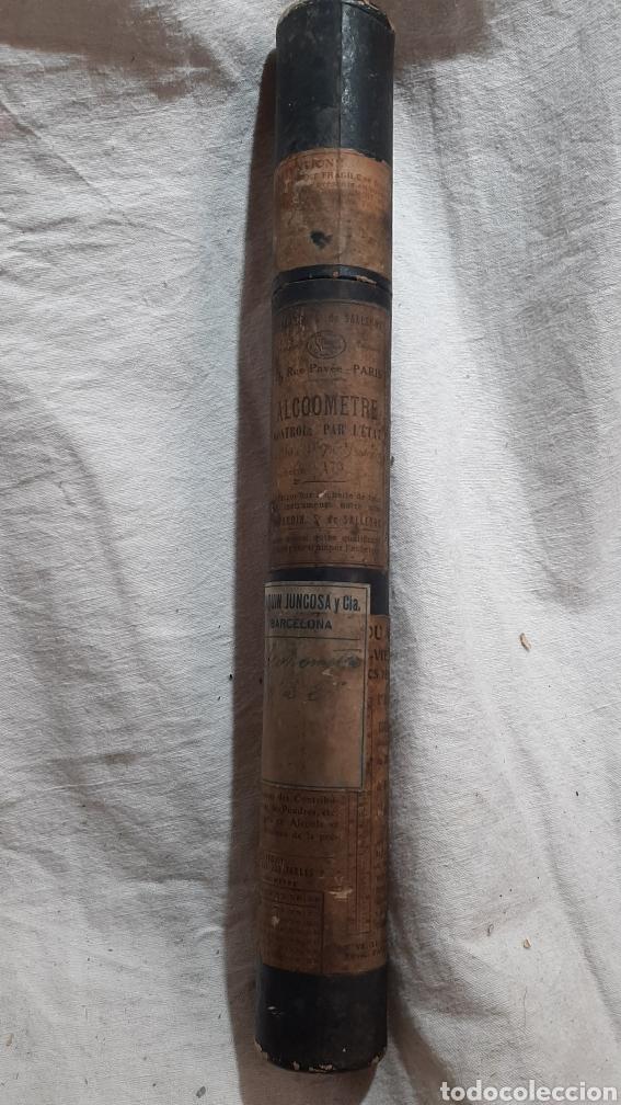 MEDIDOR DE ALCHOL ALCHOLMETRO 1920 FRANCÉS CON ESTUCHE (Antigüedades - Técnicas - Herramientas Antiguas - Otras profesiones)