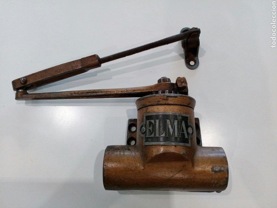 ELMA , MUELLE DE PUERTA (Antigüedades - Técnicas - Cerrajería y Forja - Varios Cerrajería y Forja Antigua)