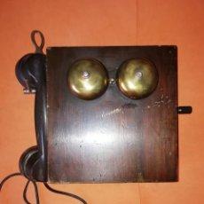 Teléfonos: TELEFONO DE PARED ERICSSON DE MADERA Y BAQUELITA.. Lote 209355865