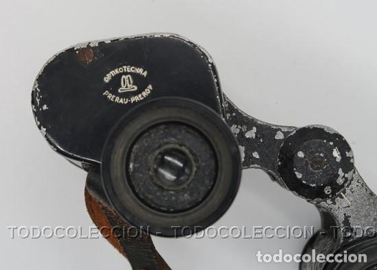 Antigüedades: PRISMATICOS BINOCULARES OPTIKOTECHNA PRERAU PREROV 6 x 30 MEOPTA . CHECOSLOVAQUIA CA 1940 - Foto 4 - 209589408