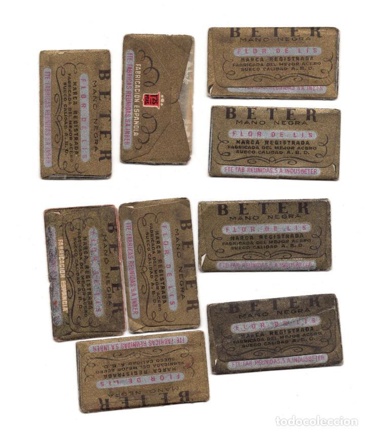 Antigüedades: LOTE DE HOJAS DE AFEITAR BETER FLOR DE LIS. FABRICADAS CON ACERO SUECO - Foto 2 - 209593873