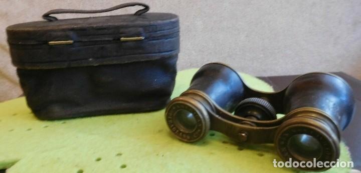 ANTIGUOS BINOCULARES DE ÓPERA FINALES SIGLO XIX SOBRE EL AÑO 1880 DE NUEVA YORK ESTADOS UNIDOS (Antigüedades - Técnicas - Instrumentos Ópticos - Binoculares Antiguos)