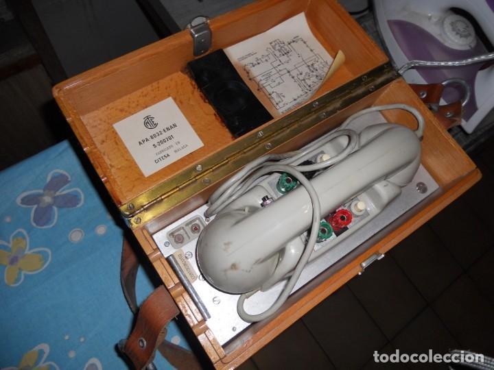 Teléfonos: telefono antiguo en su maleta maletin a pilas citesa muy buen estado el conjunto - Foto 6 - 209803388