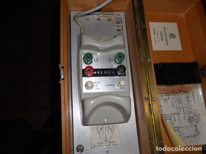 Teléfonos: telefono antiguo en su maleta maletin a pilas citesa muy buen estado el conjunto - Foto 10 - 209803388
