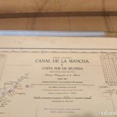 Antigüedades: CARTA MAPA NAVEGACIÓN CANAL DE LA MANCHA Y COSTA SUR IRLANDA 1957. Lote 209807158