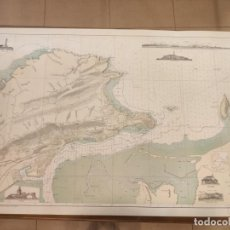 Antigüedades: CARTA MAPA NAVEGACIÓN BAHÍA Y PUERTO DE SANTANDER AÑOS 50. Lote 209807420