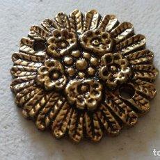Antigüedades: ROSETON LATÓN FUNDIDO APROXIMADO 3 CM DIAMETRO - PRECIO UNITARIO DISPONIBLES 11). Lote 209883473