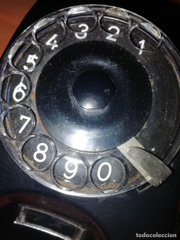 Teléfonos: TELEFONO ANTIGUO DE MESA O PARED. SIEMENS. DE PLASTICO NEGRO. ESTADO MUY BUENO. - Foto 2 - 209953181