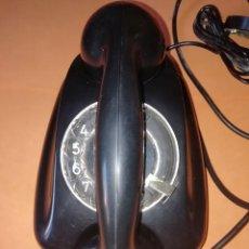 Teléfonos: TELEFONO ANTIGUO DE MESA O PARED. SIEMENS. DE PLASTICO NEGRO. ESTADO MUY BUENO.. Lote 209953181