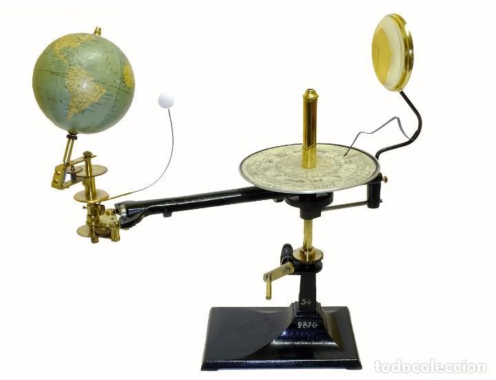 1900CA - ¡ DE MUSEO ! - PLANETARIO TELURIO LUNARIUM TELLURION ORRERY VALLARDI (Antigüedades - Técnicas - Varios)