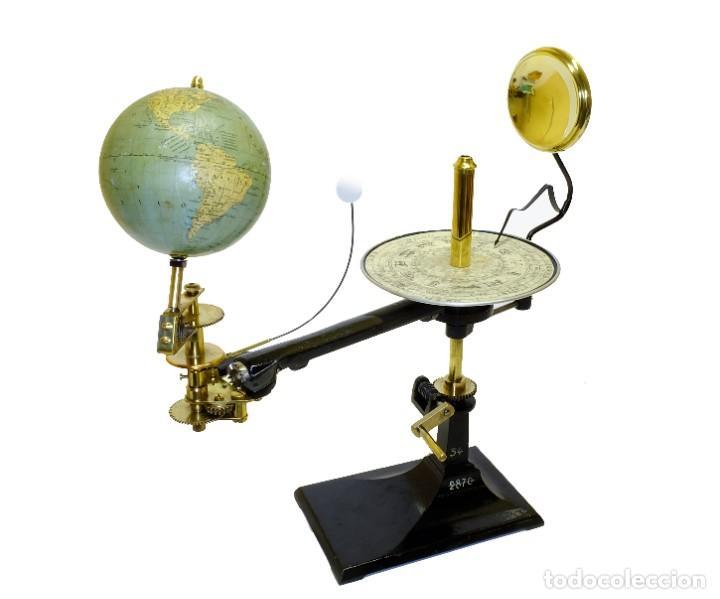 Antigüedades: 1900CA - ¡ DE MUSEO ! - PLANETARIO TELURIO LUNARIUM TELLURION ORRERY Vallardi - Foto 2 - 210003702