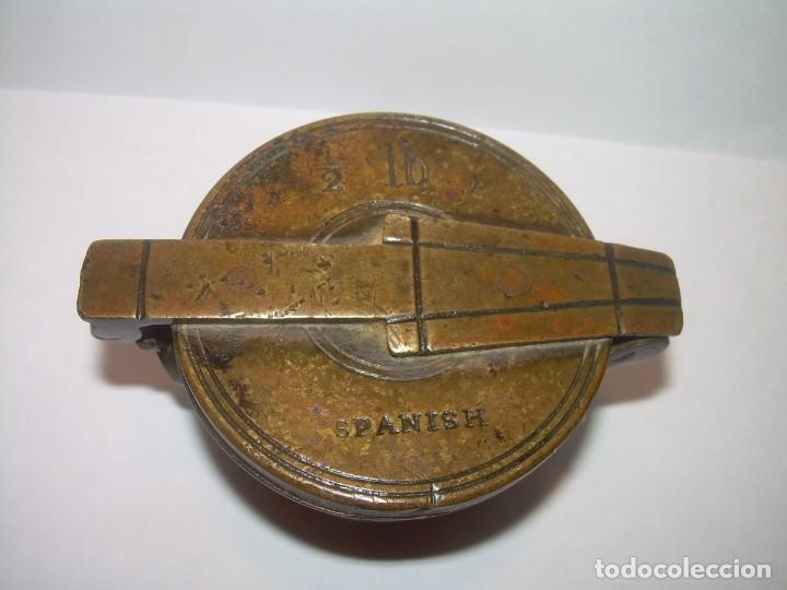 Antigüedades: ANTIGUOS Y MUY RAROS PONDERALES DE BRONCE.....SPANISH...VER FOTOS. - Foto 2 - 210006642