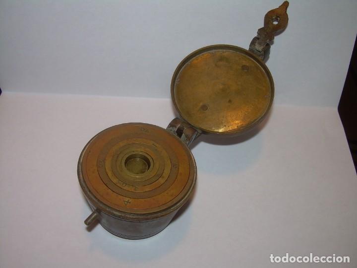 Antigüedades: ANTIGUOS Y MUY RAROS PONDERALES DE BRONCE.....SPANISH...VER FOTOS. - Foto 3 - 210006642
