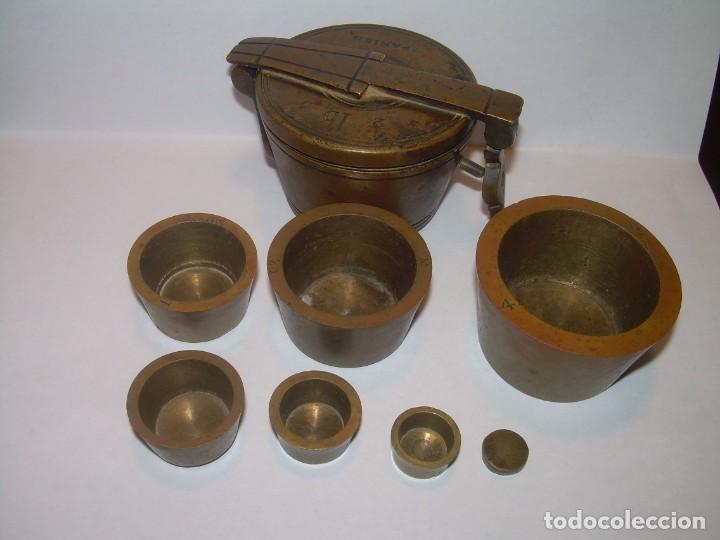 Antigüedades: ANTIGUOS Y MUY RAROS PONDERALES DE BRONCE.....SPANISH...VER FOTOS. - Foto 4 - 210006642