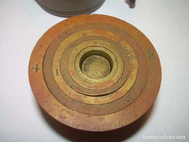 Antigüedades: ANTIGUOS Y MUY RAROS PONDERALES DE BRONCE.....SPANISH...VER FOTOS. - Foto 5 - 210006642