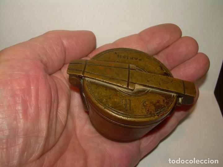 Antigüedades: ANTIGUOS Y MUY RAROS PONDERALES DE BRONCE.....SPANISH...VER FOTOS. - Foto 9 - 210006642
