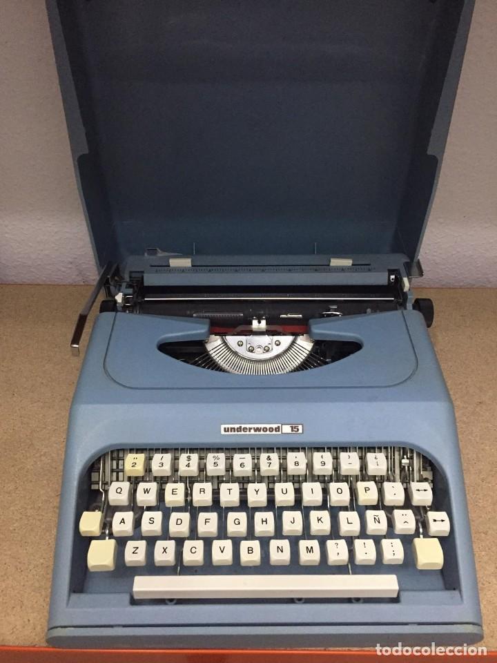 Antigüedades: Antigua maquina de escribir Underwood 15 - Foto 3 - 210056872