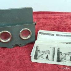Antigüedades: VISOR ESTEREOSCOPICO. MADERA Y CRISTAL. 135 FOTOGRAFIAS DE PAISAJES. SIGLO XX.. Lote 210174580