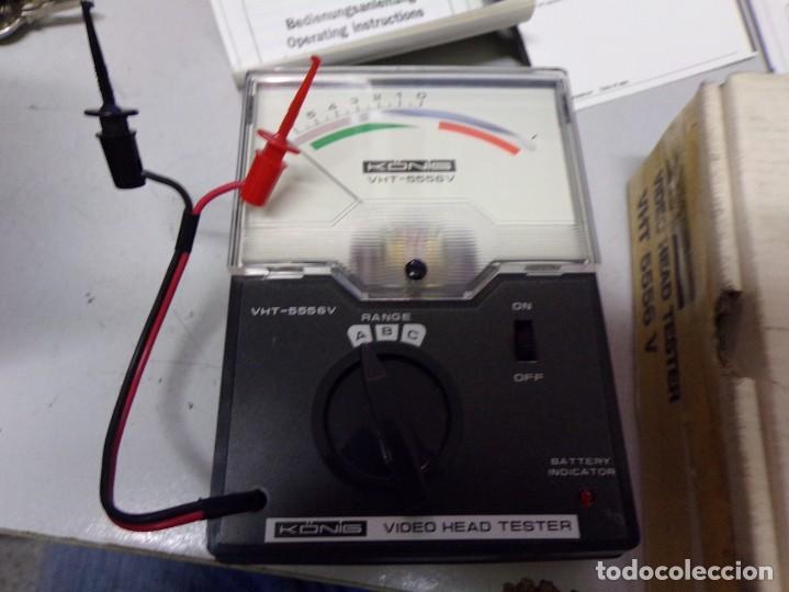 Antigüedades: aparato comprovador video head tester vht 5556 v nuevo en su caja con instrucciones - Foto 2 - 210177657