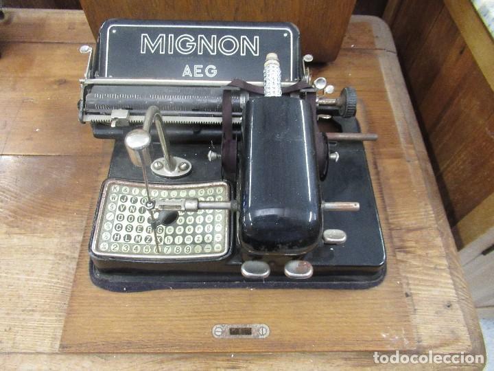 MAQUINA DE ESCRIBIR MIGNON AEG - CON CAJA ORIGINAL - (Antigüedades - Técnicas - Máquinas de Escribir Antiguas - Mignon)