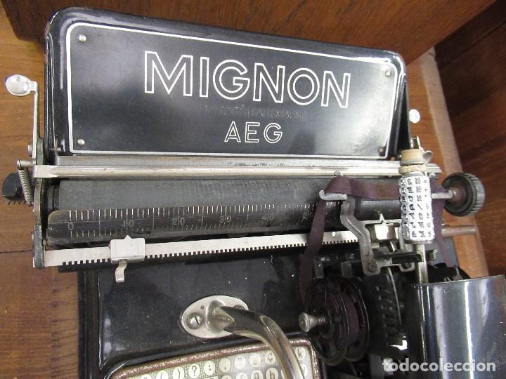 Antigüedades: MAQUINA DE ESCRIBIR MIGNON AEG - CON CAJA ORIGINAL - - Foto 4 - 210187050
