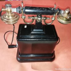 Telefoni: TELEFONO ANTIGUO CARLSON ELECTRIC CO. CHAPA Y BRONCE. PARA ARREGLAR.. Lote 210227245