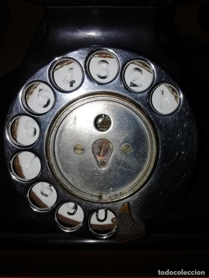 Teléfonos: TELEFONO DE MESA ANTIGUO SIEMENS. BAQUELITA NEGRA. - Foto 2 - 210232522