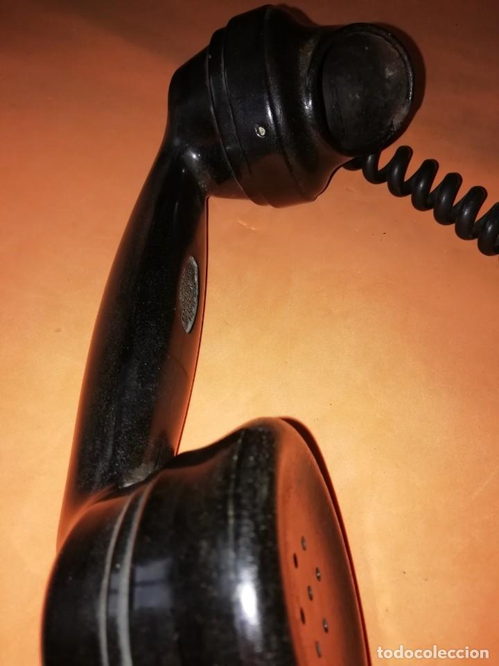 Teléfonos: TELEFONO DE MESA ANTIGUO SIEMENS. BAQUELITA NEGRA. - Foto 3 - 210232522