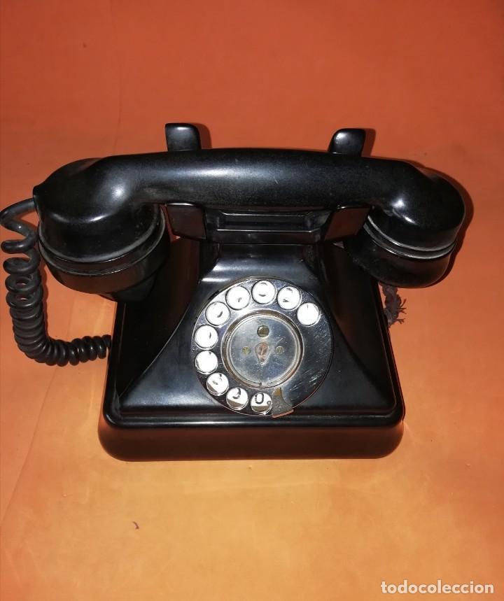 TELEFONO DE MESA ANTIGUO SIEMENS. BAQUELITA NEGRA. (Antigüedades - Técnicas - Teléfonos Antiguos)