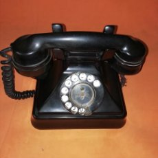 Teléfonos: TELEFONO DE MESA ANTIGUO SIEMENS. BAQUELITA NEGRA.. Lote 210232522