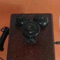 Teléfonos: TELEFONO ANTIGUO DE PARED. AMERICAN BELL .AÑO 1889. MUEBLE DE MADERA.. Lote 237527635