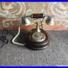 Teléfonos: TELEFONO ANTIGUO DE MADERA DE SOBREMESA. Lote 210355311