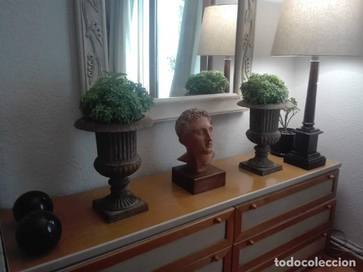 Antigüedades: Pareja de Copas Medici de hierro colado. - Foto 6 - 209914798
