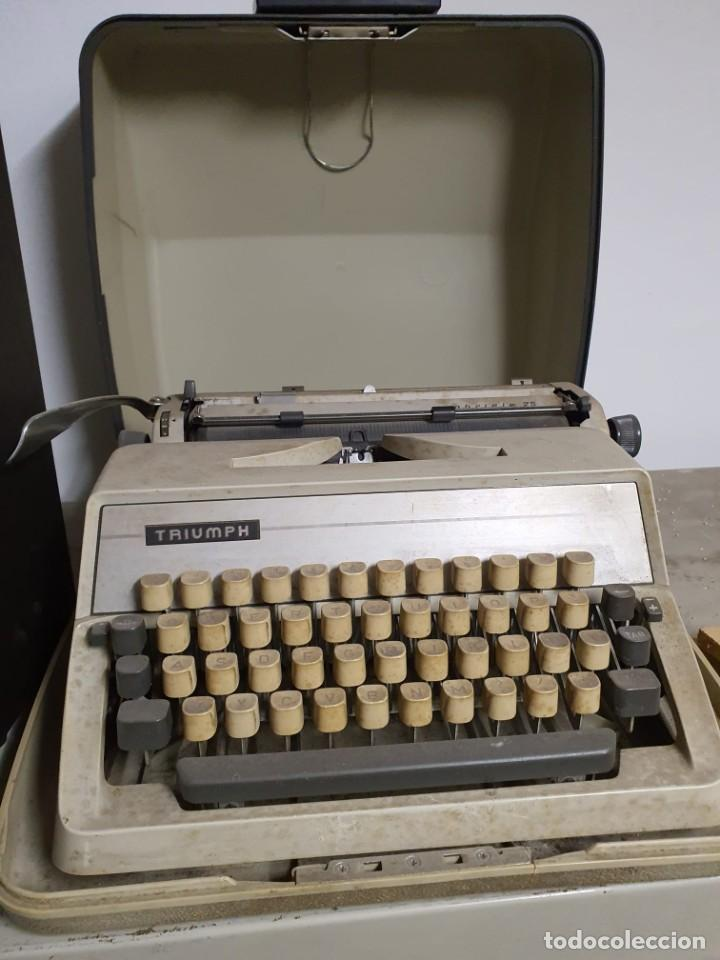 MAQUINA ESCRIBIR TRIUMPH (Antigüedades - Técnicas - Máquinas de Escribir Antiguas - Triumph)