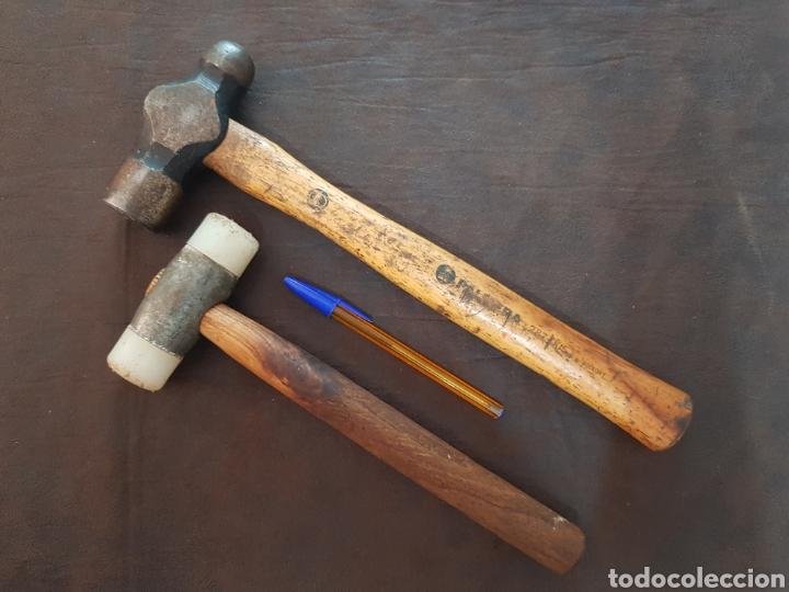 MARTILLO GRANDE PALMERA + MAZO DE GOMA (Antigüedades - Técnicas - Herramientas Profesionales - Mecánica)