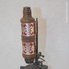 Antigüedades: MICROSCOPIO MINIATURA PUBLICIDAD MEDICAMENTO. Lote 210393562