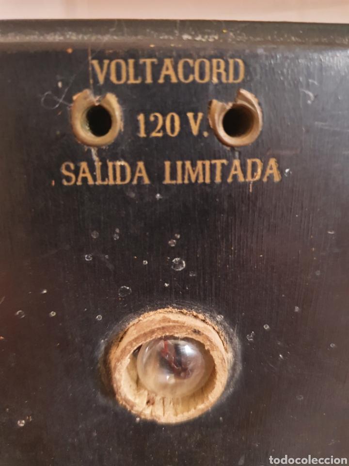 Antigüedades: ANTIGUO ELEVADOR REDUCTOR DE CORRIENTE MARCA ANCORA VOLTACORD - Foto 3 - 210449955