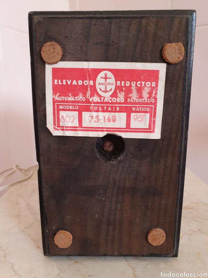 Antigüedades: ANTIGUO ELEVADOR REDUCTOR DE CORRIENTE MARCA ANCORA VOLTACORD - Foto 6 - 210449955