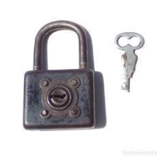 Antigüedades: ANTIGUO CANDADO 6,8 CM ALTO. FUNCIONAMIENTO PERFECTO.. Lote 210456108